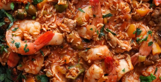 Brown Rice Chicken & Shrimp Jambalaya