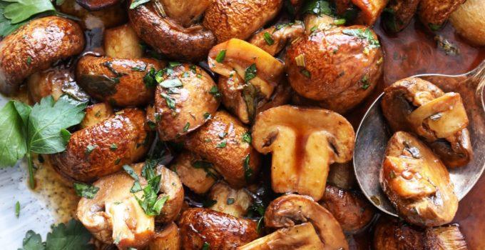 Szechuan Style Roasted Mushrooms